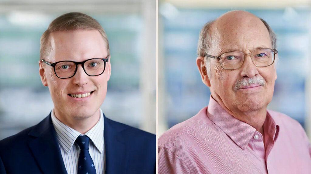 Fredrik NG Andersson och Lars Jonung. Pressfoton.