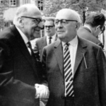 Bild: Max Horkheimer och Theodor Adorno vid Frankfurtskolan skapade kulturmarxismen. Foto: Jeremy J. Shapiro. Licens: CC BY-SA 3.0, Wikimedia